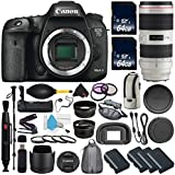 6Ave Canon EOS 7D Mark II DSLR Camera International version (No Warranty) Canon EF 70-200mm f/2.8L IS II USM Lens + Battery Grip + Wildlife and Sports Photography Bundle