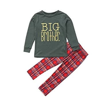 75ecf76b08c Image Unavailable. Image not available for. Color  Gufenban Christmas  Pajamas for Family 3PCS Christmas Baby Letter Romper+Pants+Hat Family  Pajamas