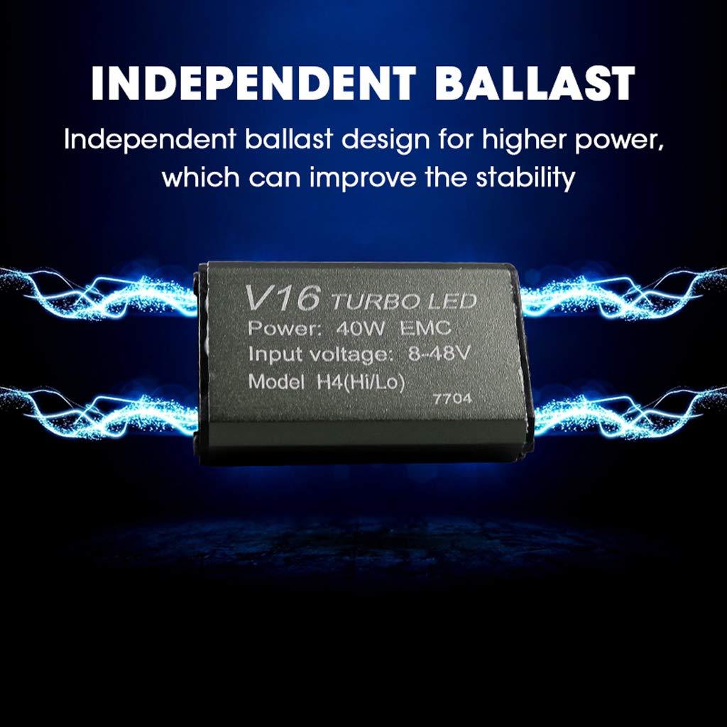 Amazon.com: 2Pcs Auto Car led headlamp H7 H8 H9 H11 9005 9006 CREEs 30w 40W V16 Turbo led lamp auto 4000LM 3600lm LED head light Headlight Kit (H4): ...