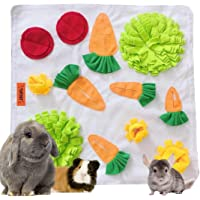 """Tokihut Rabbit Foraging Mat - Large 25"""" x 25"""" Boredom Breaker Enrichment Snuffle Mat Toy Bed for Rabbits, Guinea Pigs…"""