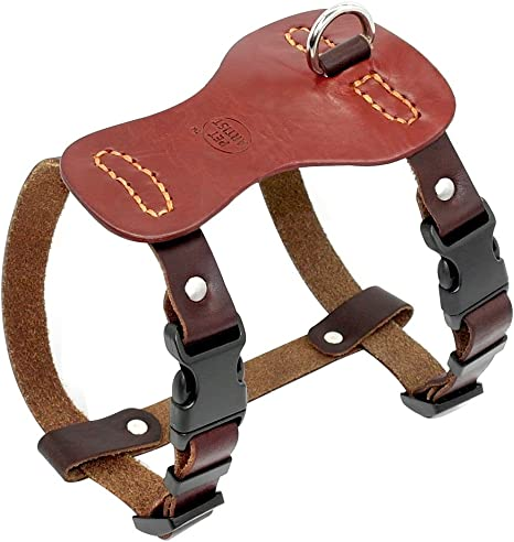 REAL LEATHER DOG HARNESS SMALL//PUPPY