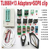 SETCTOP TL866II Plus usb programmer +13 adapter socket+SOP8 clip 1.8V nand flash 24 93 25 mcu Bios EPROM AVR eprom