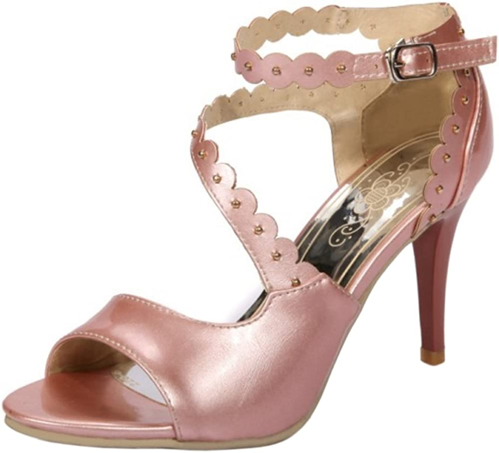 AicciAizzi Women Mid Heel Ankle Strap Sandals