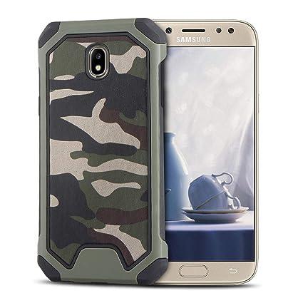 MOEVN Armor Funda para Samsung J5 2017, Galaxy J5 2017 Carcasa Camuflaje PC + TPU 2 en 1 Silicone Cover Protección Duro Caso Choque Amortiguador ...