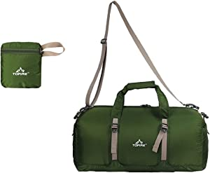 TOFINE Gym Sports Waterproof Lightweight Duffle Bag for Softball Baseball Green 25L