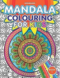 mandala colouring for kids book 1