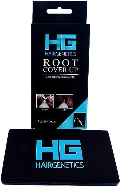 Hair Genetics® Retoca Raíces de Polvos Minerales de Aspecto Natural - Retocador de Raíces tras Coloración del Pelo para Cubrir Canas - Tinte de Cejas ...