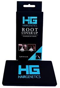 Hair Genetics Root Cover Up Hide Your Grey Hairs Roots NEW Mineral Powder Technology Natural looking Results in Seconds Root Touch Up Powder (Black)