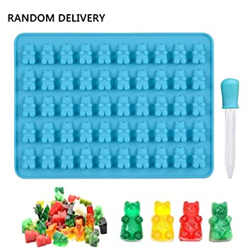 50 Gummy Maker Cavity Bear Mold Silicone Chocolate Candy Ice Tray Tool New Y