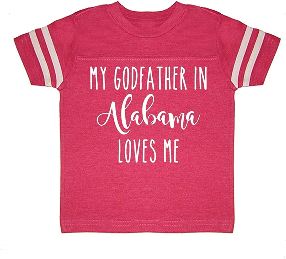 Toddler//Kids Sporty T-Shirt My Godfather in Alabama Loves Me