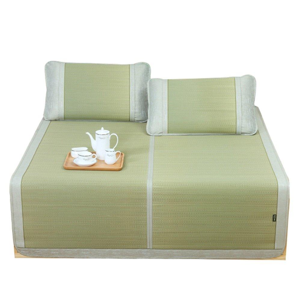 WENZHE Matratzen Sommer-Schlafmatten Strohmatte Teppiche Zusammenklappbar Zuhause Schlafsaal Cool, Einzel- / Doppelbett, Gras, 6 Größen (größe : 1.8×2.0m)