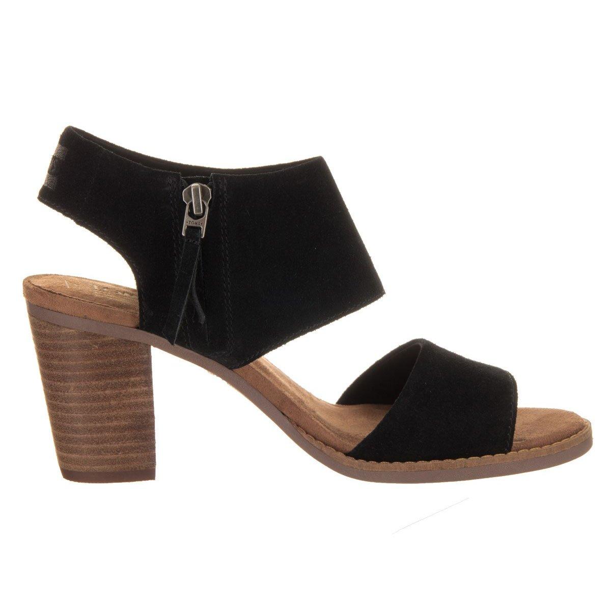 Toms Women's Majorca Cutout Sandal - Black, 8 B(M) US