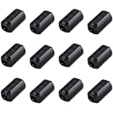 Viaky 12 Pack RFI EMI Noise Suppressor Cable Clip, Clip-on Ferrite Ring Core Noise Filter for 5mm Dia Cable(Black)