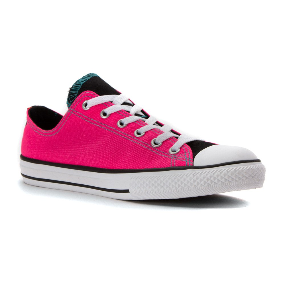 Converse AS Hi Can charcoal 1J793 Unisex-Erwachsene Sneaker  3.5 BIG KID M|NEON PINK WHITE BLACK