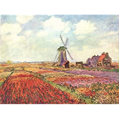 WYBFLF 1000 Pieces Wooden Jigsaw Puzzle for Adult & Kids – Tulips of Holland by Claude Monet: Toys & Games
