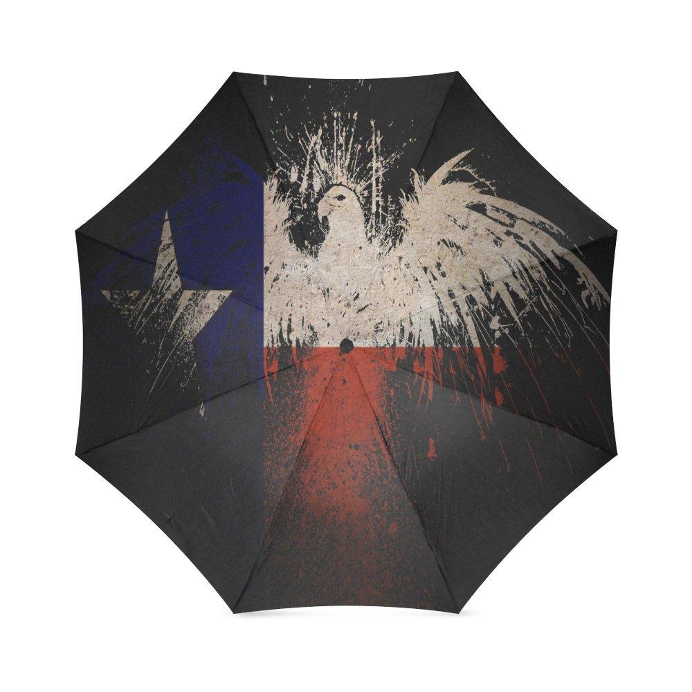 カスタムTexas Stateイーグルフラグコンパクト旅行防風防雨折りたたみ式傘 B075ZY9BMX