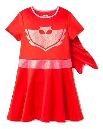 PJ MASKS Little Girls Costume Dress W/Cape, Hot Pink,4/
