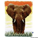 Vervaco Latch Hook Kit: Rug: Elephant in the Savannah