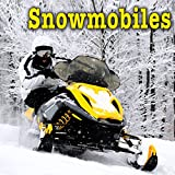 Old Ski Doo Snowmobile Pass by Left to Right at Fast Speed, Distant...