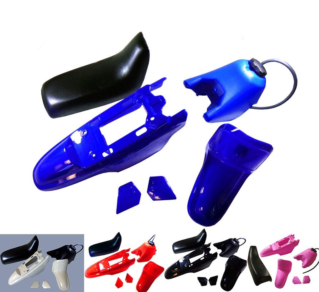 Plastic Fender Body Seat Gas Tank Kit for Yamaha PW50 PY50 PW 50 (Blue) Kids ATV Parts