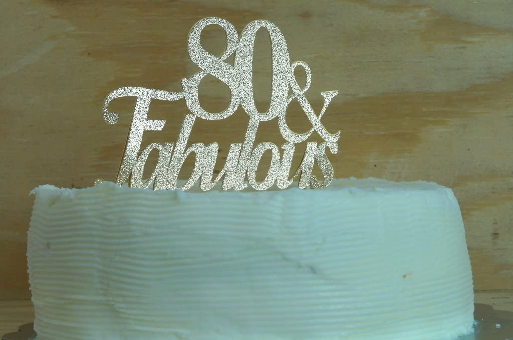 All About Details Red 80-/&-fabulous Cake Topper CAT80FB