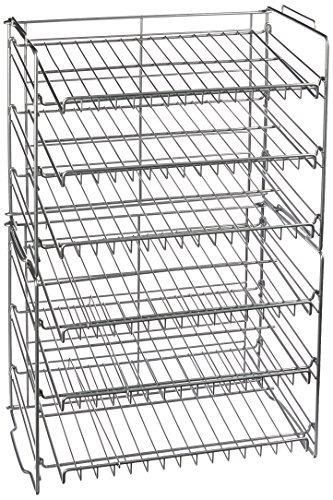 Atlantic Gravity-Fed Compact Double Canrack - Kitchen Organizer, Durable Steel Construction, Stackable or Side-by-Side, PN23235595 in Silver