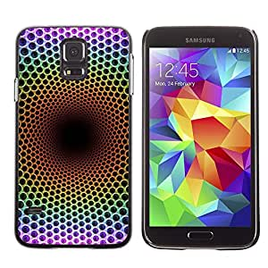 Be Good Phone Accessory // Dura Cáscara cubierta Protectora Caso Carcasa Funda de Protección para Samsung Galaxy S5 SM-G900 // Abstract Net Speaker Soul Deep