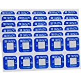 Brady TIL-1-82C/180F, 622080 Temperature Indicating Label Materials, (2 Packs of 60 pcs)