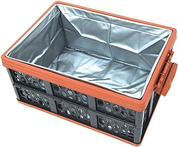 Yeying123 Caja De Almacenamiento Plegable Al Aire Libre Cubo De Camping Tanque Multifuncional Caja De Almacenamiento Grande Caja De Acabado del Coche Cesta De Plástico: Amazon.es: Deportes y aire libre