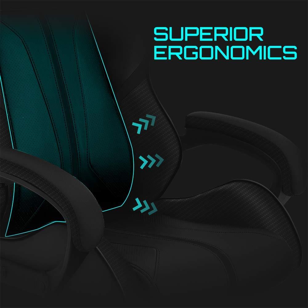 Amazon.com: ThunderX3 BC1 Office Gaming Chair - AIR Tech, Ergonomic Design, Premium Leatherette (Black): Computers & Accessories