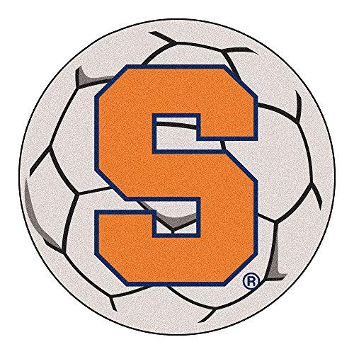 FANMATS NCAA Syracuse University Orange Nylon Face Soccer Ball Rug (Ball Rug University Soccer)