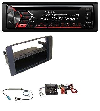 Pioneer S400 0bt AUX Bluetooth MP3 USB CD Radio de coche para Audi A3 8P 06 - 12 Symphony activo Sistema Quadlock: Amazon.es: Electrónica