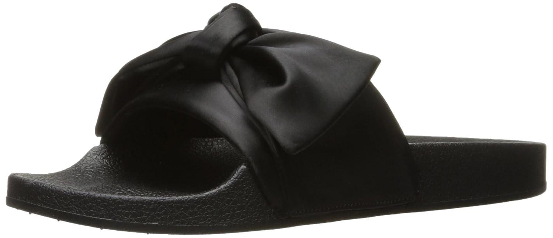 noir Satin 9 B(M) US Steve Madden Wohommes Silky Slide Sandal