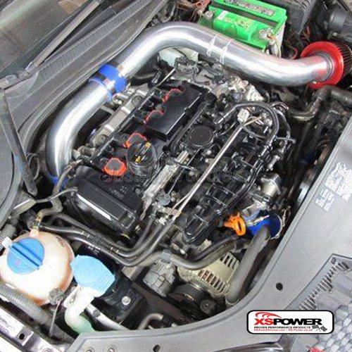 Frío Tubo de admisión de aire Kit de filtros de + para 03 - 09 Volkswagen VW Golf GTI MK5 2.0 Fsi Cai: Amazon.es: Coche y moto