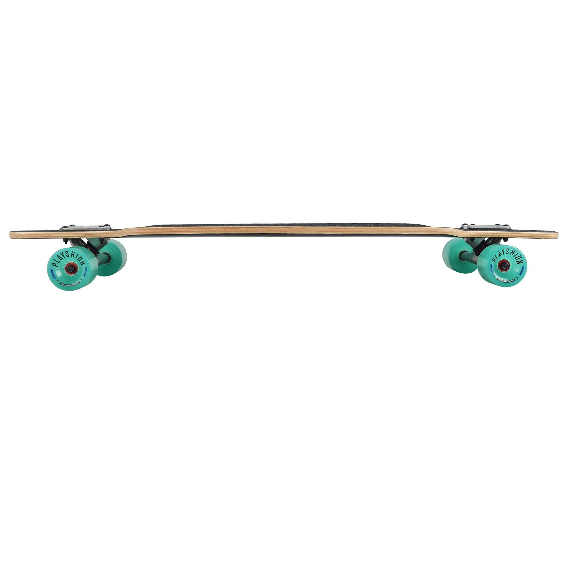 Playshion 39 Inch Drop Through Freestyle Longboard Skateboard Cruiser by Playshion (Image #7)