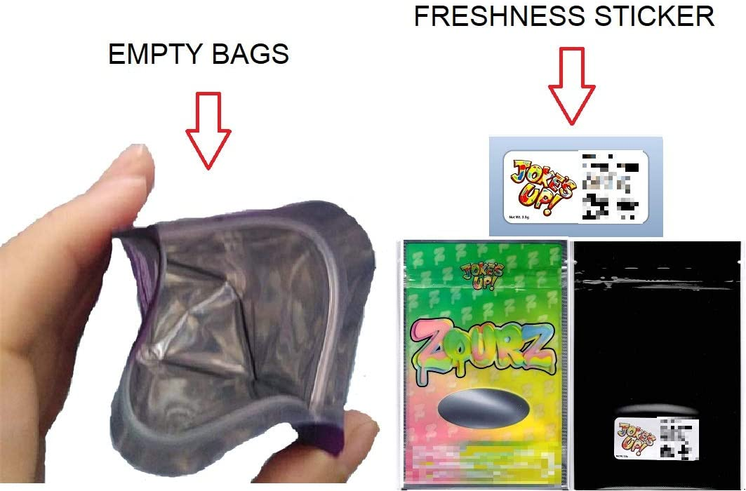 50 pack GASHOUSE RUNTZ BAGS 3.5//7G SMELL-PROOF RESEALABLE MYLAR Packaging