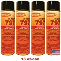 QTY4 Polymat 797 Hi-Temp LIMO/PLANE Adhesive Spray Glue Heat and Water Resistant
