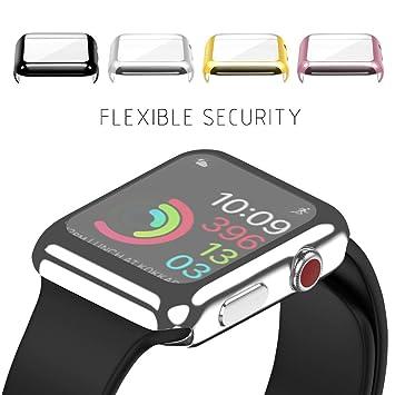 a52a66630e Amazon | 2win2buy Apple Watch 38mm用 フルカバー 超薄型 メッキ加工 ...