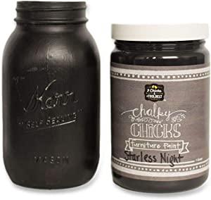 Chalky Chicks | Chalk Finish Paint | Perfect For Furniture, Cabinets, Home Decor, & DIY Craft Projects | 32 oz | Starless Night