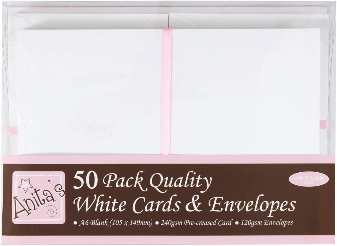 with White envelopes Pre-scored FREE 1st Class POST 10 x A5 Card Blanks Red