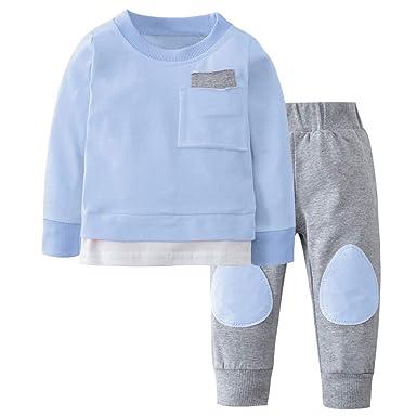 ZzZz Vestidos Niña Invierno Pelele Bebe Niño Otoño Recién Nacido Infantil Bebé Niño Niña Camiseta Tops Pantalones 2Pcs Trajes Conjunto De Ropa: Amazon.es: ...