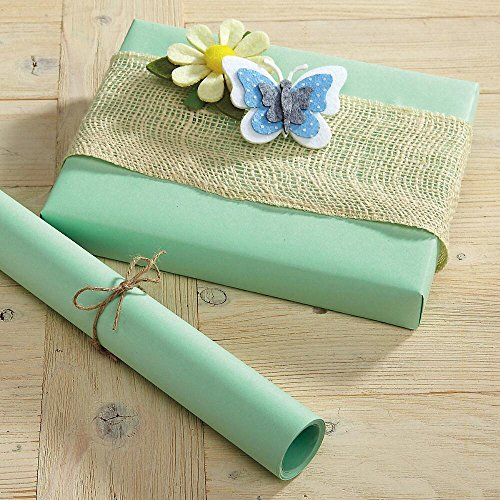 Pastel Green Kraft Gift Wrap - 38 sq. ft, heavyweight, peak-proof, tear-resistant wrapping paper, Great for Easter, Girls' Birthdays, Baby and crafts