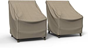 Budge P1W02PM1-2PK English Garden Patio Chair Cover, Large (2-Pack), Tan Tweed