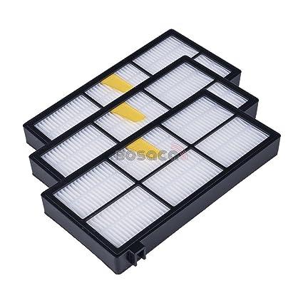Bosaca Pack de 3 Filtros HEPA iRobot Roomba Series 800 860 865 866 870 871 880