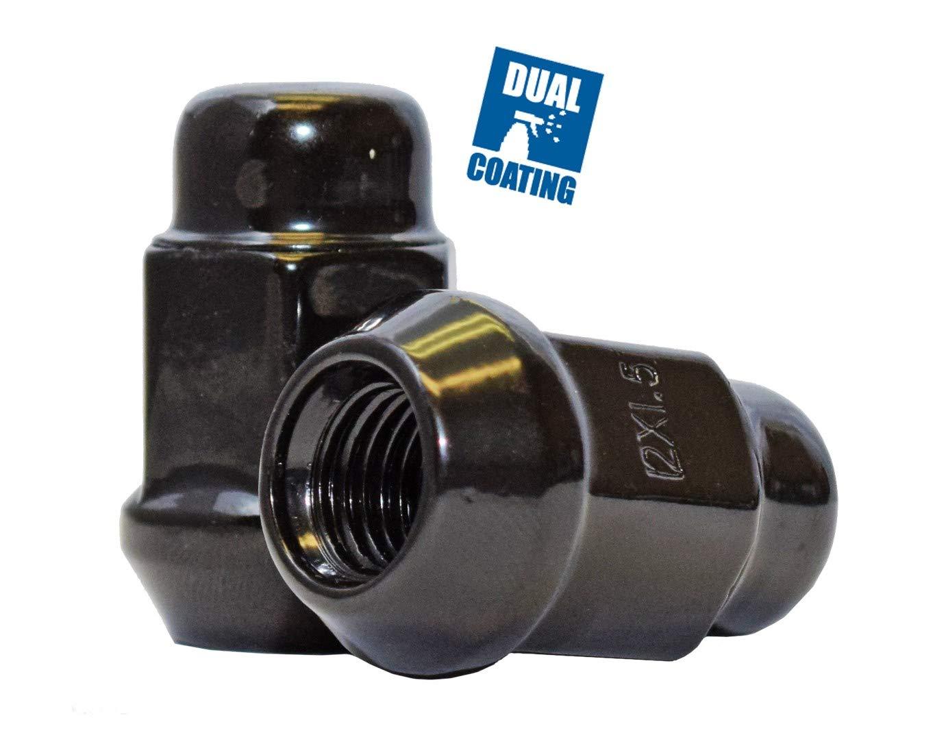 3//4 Hex Wheel Lug Nut Set of 20 Lug Nuts Closed End Bulge Acorn Lug Nut Style 1.38 Long Cone Seat 19mm M14x2.0, Chrome