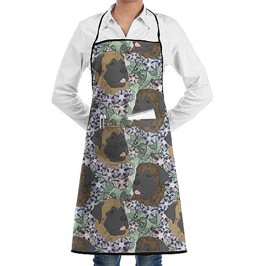 Delantal de chef de cocina ajustable de tela de mastín con ...