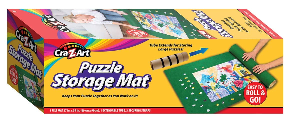 Puzzle Storage Mat Roll GO Up to 2000 pc Tube Extends for Storing Large Puzzles Keeps Your Puzzle Together While You Work on it