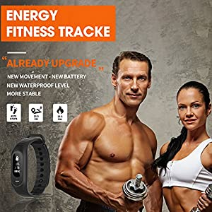 Fitness Tracker Blood Pressure Heart Rate ECG Monitoring For IPhone Android Phones Pedometer Calorie Sleep Tracker Waterproof - Black