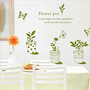 Potted Wall Stickers Love Wall Decal Mural Home Decor