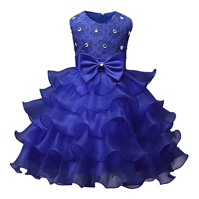 44a0f92ca55a3 Clearance! Kids Girls Lace Floral Ruffles Princess Wedding Tutu Dresses  Costume Formal Pageant Dress Ball Gown